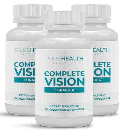 purehealths complete vision formula reviews safe ingredients