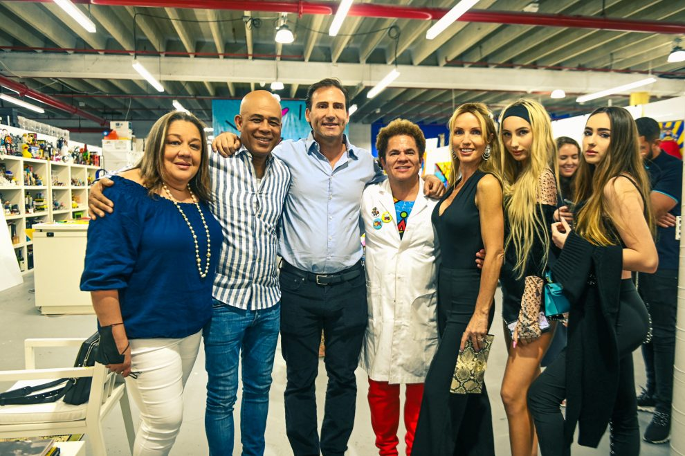 nicolas delrieu commissions romero britto presents michel martelly with bless haiti in honor of haitian heritage month