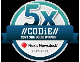 Newsdesk 5Years CODiE Winner2