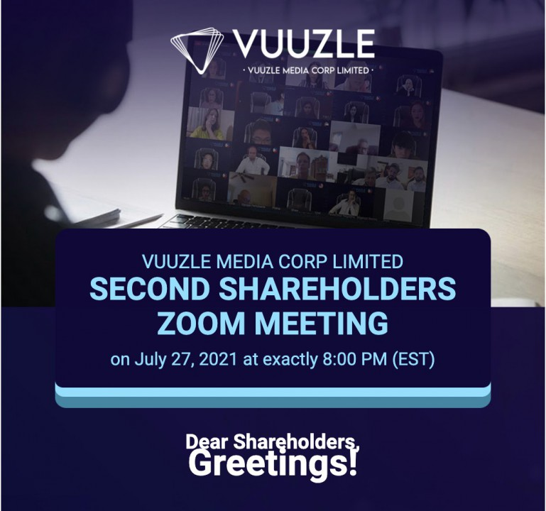 vuuzle media corp limited holds its second zoom meeting with shareholders